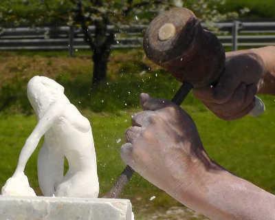 Sculpture en albâtre d'Espagne