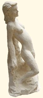 Une femme élégante en pierre Oeuvre en cours de réalisation