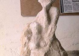 """""""La Jubilation de Pâris"""" Sculpture en pierre marbrière"""
