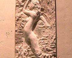 Bas-relief en pierre Taille directe en cours de création