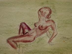 Dessin au pastel de l'artiste contemporain