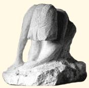 """1988 - """"La Méditation"""", taille directe sur pierre Coll Blanloeil"""
