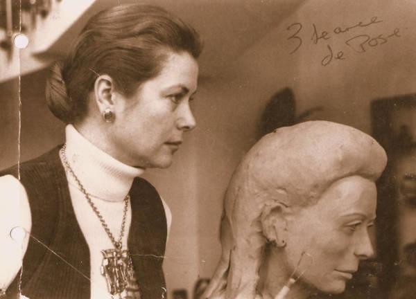 Création du buste en argile de la Princesse Grace de Monaco