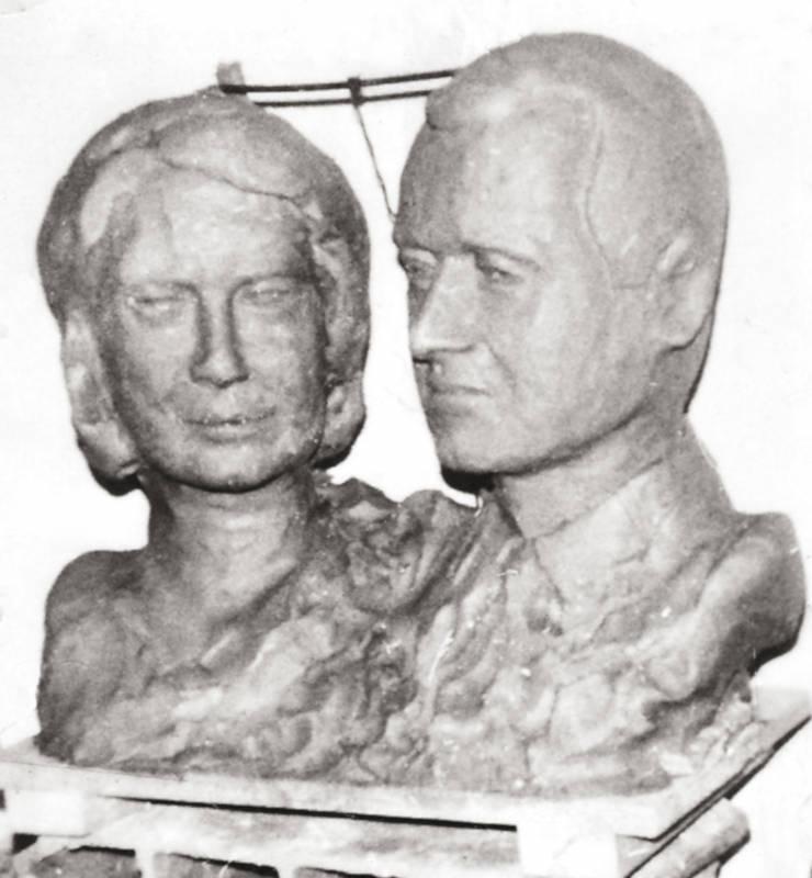 étude en modelage pour les bustes de leurs altesses royales