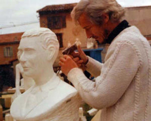 Buste Marcel Leykens en 1983