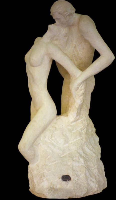 La sculpture Le Baiser Renversé