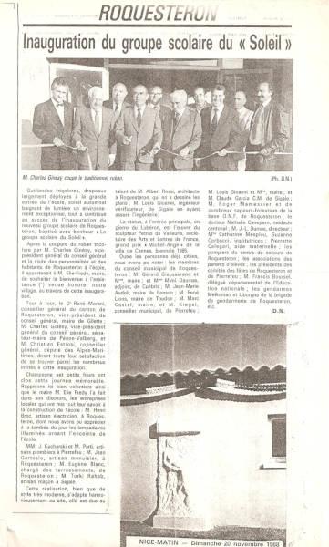 Le bas-relief de Roquesteron dans la presse