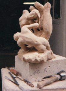 Une sculpture sur La Naissance du Monde