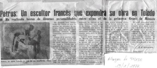 la presse à propos de l'exposition en Espagne