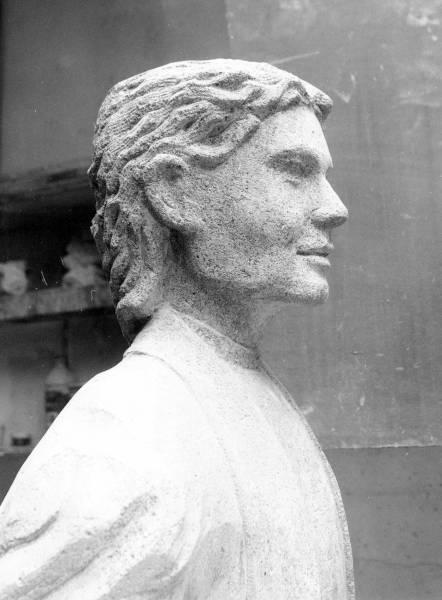 Détail du visage de la statue