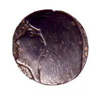 Médaille en plomb (profil)