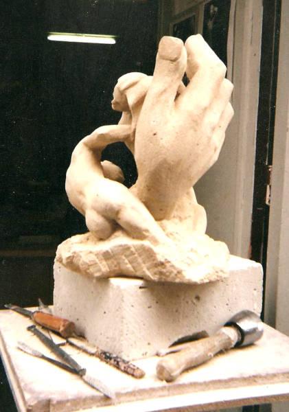 Un petit couple en pierre