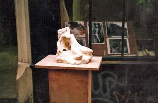 Une des sept sculptures avant leur départ pour le Japon.