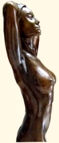 Une sculpture en bronze (détail)
