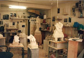 L'atelier de l'artiste Passage Cardinet