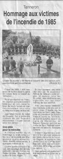 Article de Var Matin - Août 2002