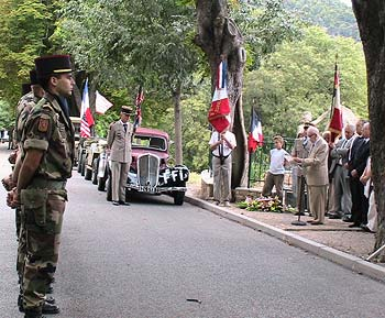 Le discours de M. Pierre Jassaud, maire de Bargème et Président de l'Association Nationale des Anciens Combattants de la Résistance (Comité Est-Varois)