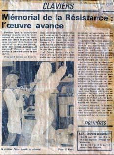 La sculpture monumentale dans la presse