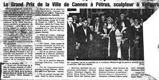 Un article de Nice Matin sur le Grand Prix de la Ville de Cannes