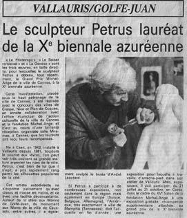 Un article de Nice Matin du 21 mai 1985