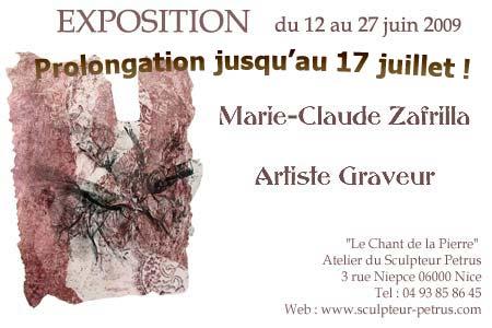 L'exposition de gravures de Marie-Claude Zafrilla