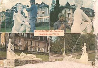 Le Monument et son sculpteur sur une carte postale.