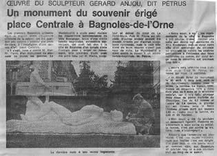 Le Monument aux Morts dans la presse