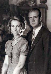 1974 - Leurs Altesses Royales Juan Carlos et Sophie d'Espagnes