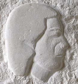 Le visage de Paulette Duhalde Détail de la stèle