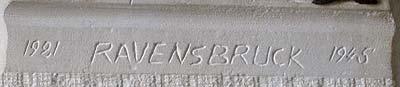 1921 Ravensbruck 1945 Détail de la stèle