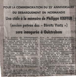 Article de Ouest France sur la création de la stèle