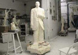 Aperçu de l'atelier du sculpteur Janvier 2009
