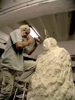 La statue dans l'atelier - 03/09/08