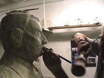 Sculpture d'une partie du visage : la bouche