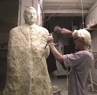 sculpture d'un homme : les volumes du corps