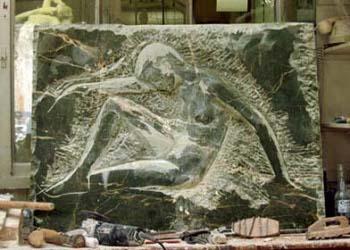 Le bas-relief en marbre