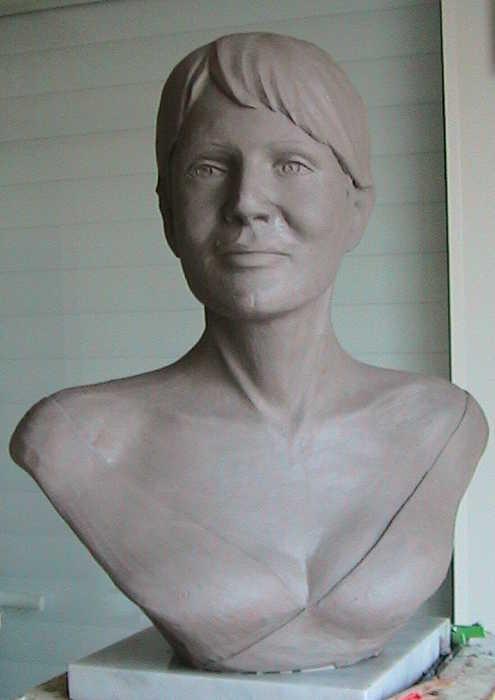 modelage original du buste de Mme B.