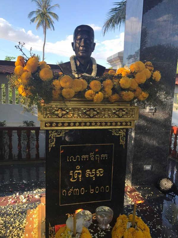 Inauguration du buste au Cambodge