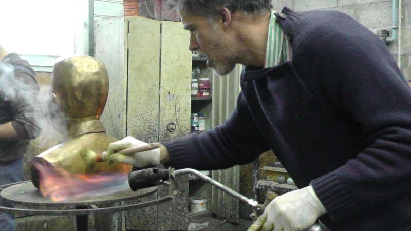 Création du buste en bronze