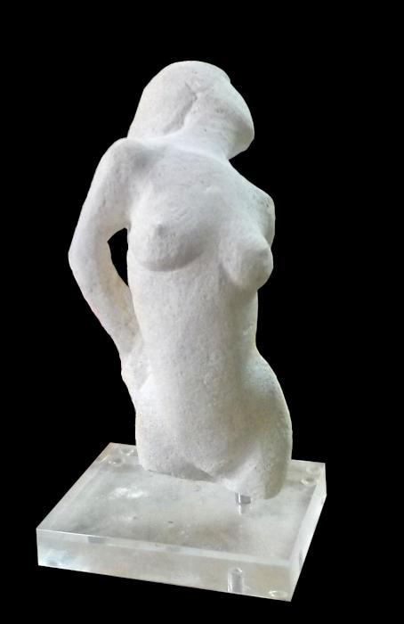 La sculpture offerte par le Sculpteur Pétrus