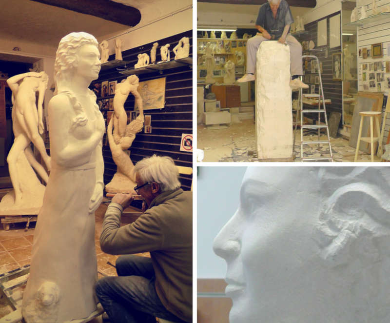 portrait en pied en sculpture