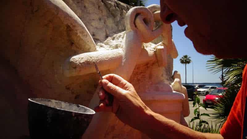 Détail restauration monument AMMAC