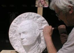 Le portrait en marbre de Jérôme Jomat
