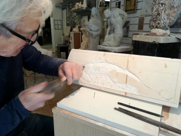 Sculpture d'un marbre