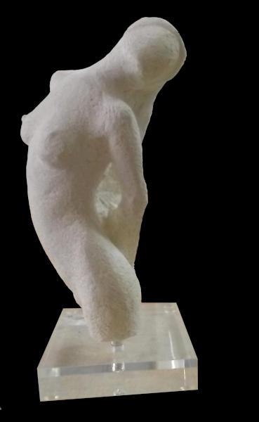La sculpture offerte au profit du Rotary Club