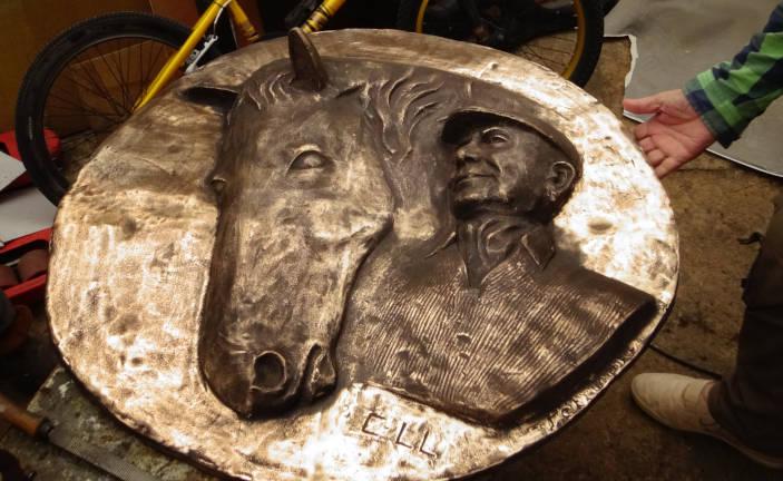 Le bronze avant l'application de la patine