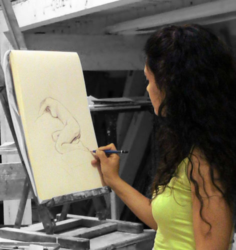 Cours de dessin d'après modèle vivant